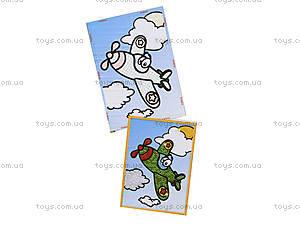 Картинка из пайеток и глиттера «Самолётик», 900-2, фото