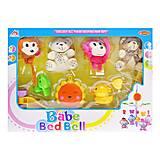 Карусель музыкальная Мишки-обезьянки  мягкая, 3007, игрушки