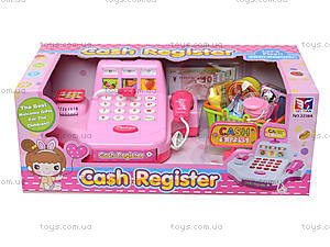 Кассовый аппарат для детей с набором продуктов, 2238A, игрушки