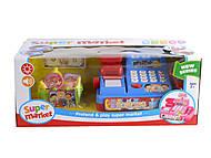 Кассовый аппарат, 3 вида (со светом, звуком, сканером + деньги, продукты), 551679, интернет магазин22 игрушки Украина