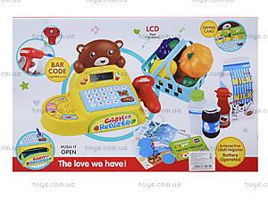 Игрушечная касса со сканером «Медвежонок», 35561, фото