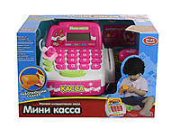 """Кассовый аппарат """"Мини касса"""" (звук, микрофон, сканер), 7639, игрушка"""