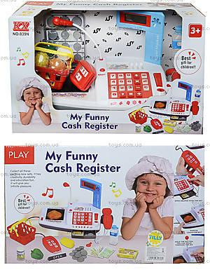 Игрушечный кассовый аппарат «Моя забавная касса», 039N