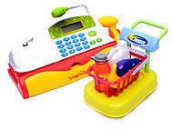 Кассовый аппарат, с корзинкой продуктов, LF9813B, магазин игрушек