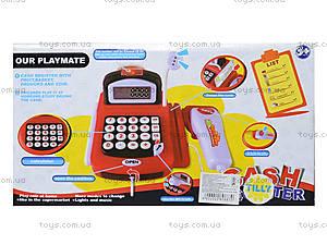 Игрушечный кассовый аппарат с микрофоном, 8088A-1, фото