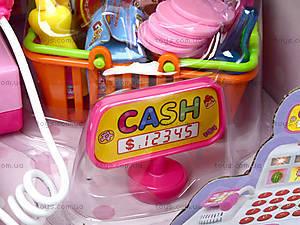 Игрушечный кассовый аппарат с набором продуктов, DN889, фото