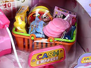 Игрушечный кассовый аппарат с набором продуктов, DN889, игрушки