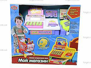 Кассовый аппарат и тележка «Магазин», 7562B, игрушки