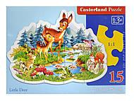 Пазл Castorland на 15 деталей «Маленький олень», В-РU06129