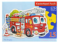 Пазл Castorland на 15 деталей «Пожарная машина», В-015078, фото