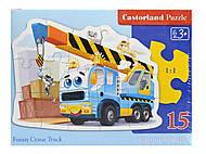 Пазл Castorland на 15 деталей «Автокран», 108, купить