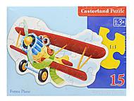 Пазл Castorland на 15 деталей «Забавный самолет», 092, фото