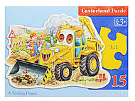 Пазл Castorland на 15 деталей «Трактор», В-015047