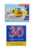 Пазл на 30 деталей «Бульдозер», B-03143, отзывы