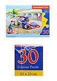 Пазл на 30 деталей «Гоночная машина», B-03181, игрушки