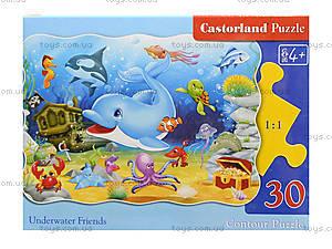 Пазл Castorland на 30 деталей «Подводные друзья», В-03501, фото