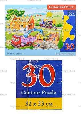 Пазл на 30 деталей «Строим дом», B-03198