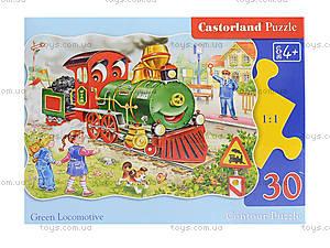 Пазл на 30 деталей «Зеленый локомотив», В-03433, фото