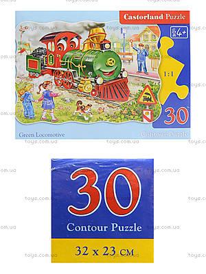 Пазл на 30 деталей «Зеленый локомотив», В-03433