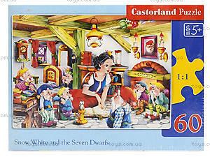 Пазл Castorland на 60 деталей «Белоснежка и 7 гномов», 731, фото