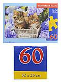 Пазлы Castorland 60 «Милые котята», В-066087, фото