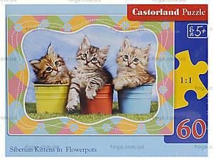 Пазл Castorland на 60 деталей «Три котенка», 762, фото