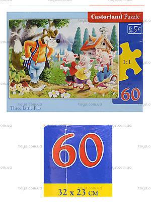 Пазл на 60 деталей «Три поросёнка», B-06106