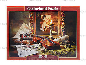 Натюрморт со скрипкой и живописью 1000, С-103621, купить