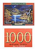 Пазл Castorland на 1000 деталей «Домик в лунном свете», 2990, фото