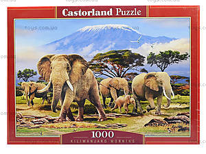 Пазл Castorland на 1000 деталей «Утро на Килиманджаро», С-103188, фото