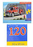 Пазл на 120 деталей MIDI «Пожарная машина», B-12527