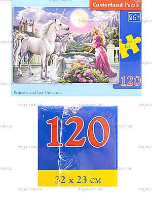 Пазл из 120 деталей «Принцесса и единороги», В-13098