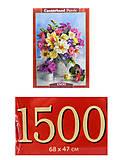 Пазл Castorland на 1500 деталей «Букет цветов», С-151516, фото