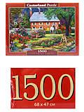 Пазл Castorland на 1500 деталей «Чудесный сад», С-151523
