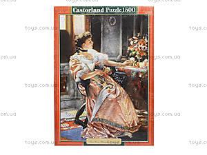 Пазл Castorland на 1500 деталей «Девушка и розы», 1233, фото