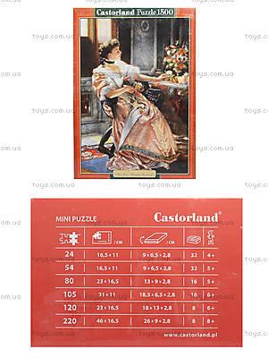 Пазл Castorland на 1500 деталей «Девушка и розы», 1233
