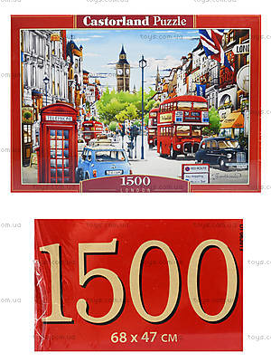 Пазл Castorland на 1500 деталей «Улицы Лондона», С-151271