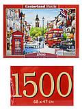 Пазл Castorland на 1500 деталей «Улицы Лондона», С-151271, фото