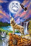 Пазлы на 1500 деталей «Волчья ночь», С-151806, купить