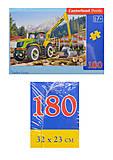 Пазл Castorland на 180 деталей «Лесовоз», В-018055, отзывы