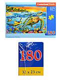 Кастор-пазлы с морскими черепашками, В-018321