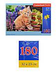 Пазл Castorland на 180 деталей «Рыжий котенок», В-018178, фото