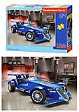 Пазлы на 180 деталей «Синий автомобиль», B-018406