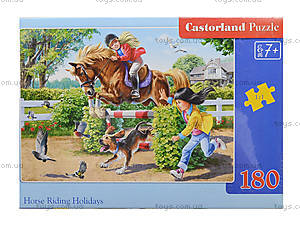 Пазл Castorland на 180 деталей «Верховая езда», В-018079, фото