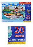 Пазлы Castorland 20maxi «Путешествие на моторной лодке», С-02375, фото