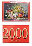 Кастор пазлы «Натюрморт с цветами и фруктами», C-200658