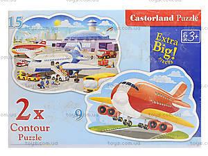 Пазлы Castorland 2хContour «Приключения в аэропорту», В-020072, игрушки