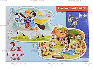 Пазл Castorland 2хContour «Белоснежка и 7 гномов», 041, игрушки