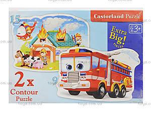 Пазл Castorland 2хContour «Пожарная бригада», 058, игрушки