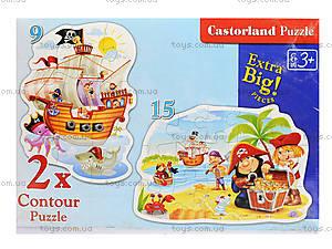 Пазл Castorland 2хContour «Пиратский клад», 010, игрушки